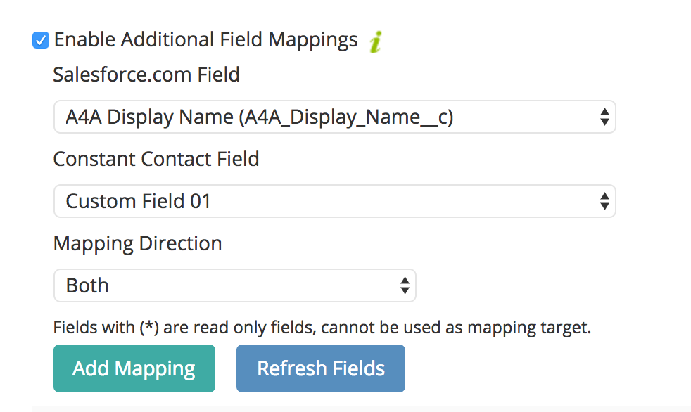 Enable Field Mapping