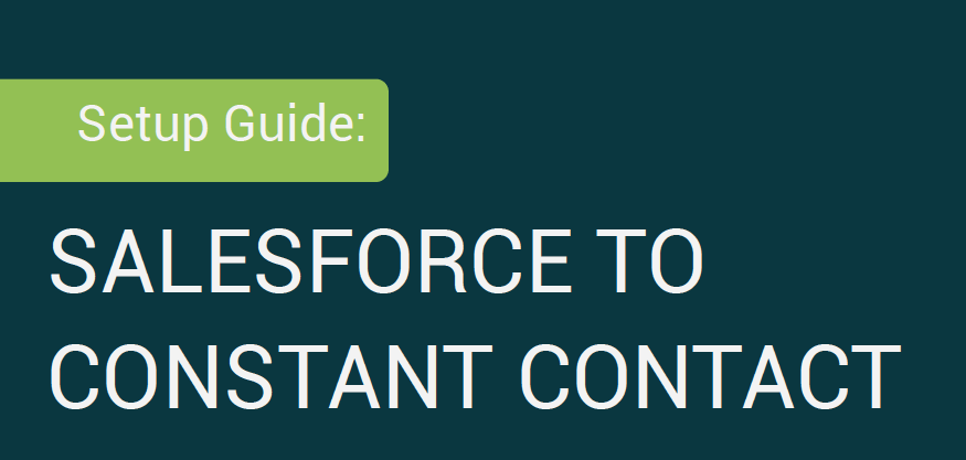 Constant Contact for Salesforce Integration